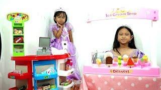 Princess Sofia Ice Cream Shop 💖 Mainan Anak Jualan Es Krim Desserts  💖 Let's Play Jessica Jenica