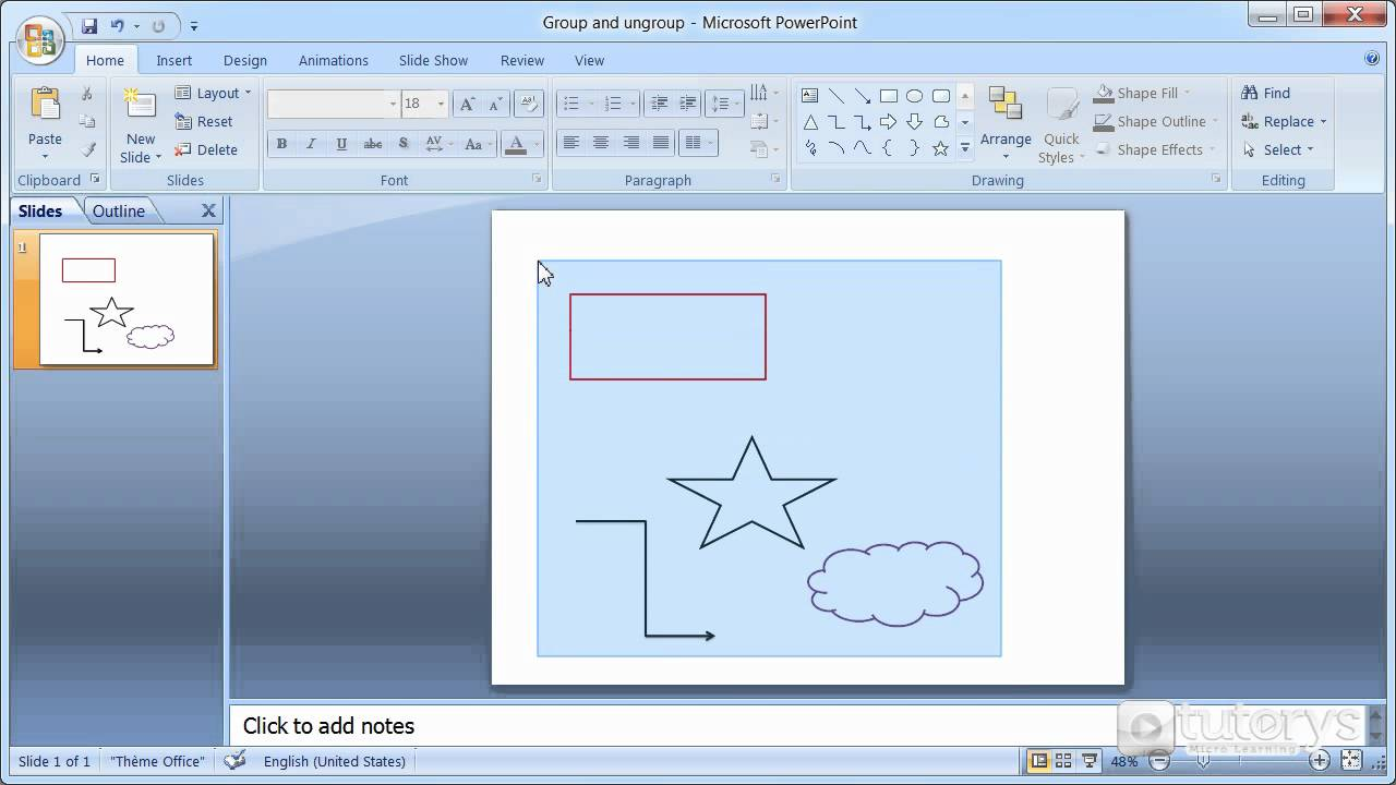 how to group and ungroup elements with powerpoint 2007 youtube