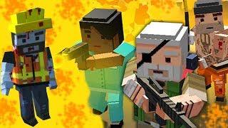- ЗОМБИ Нападение как МАЙНКРАФТ Пиксельные ЗОМБИ ВЕЗДЕ Симулятор Выживания с зомби Побег от ЗОМБИ
