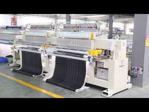 Double Roll Quilting & Embroidery Machine for Leather upholstery