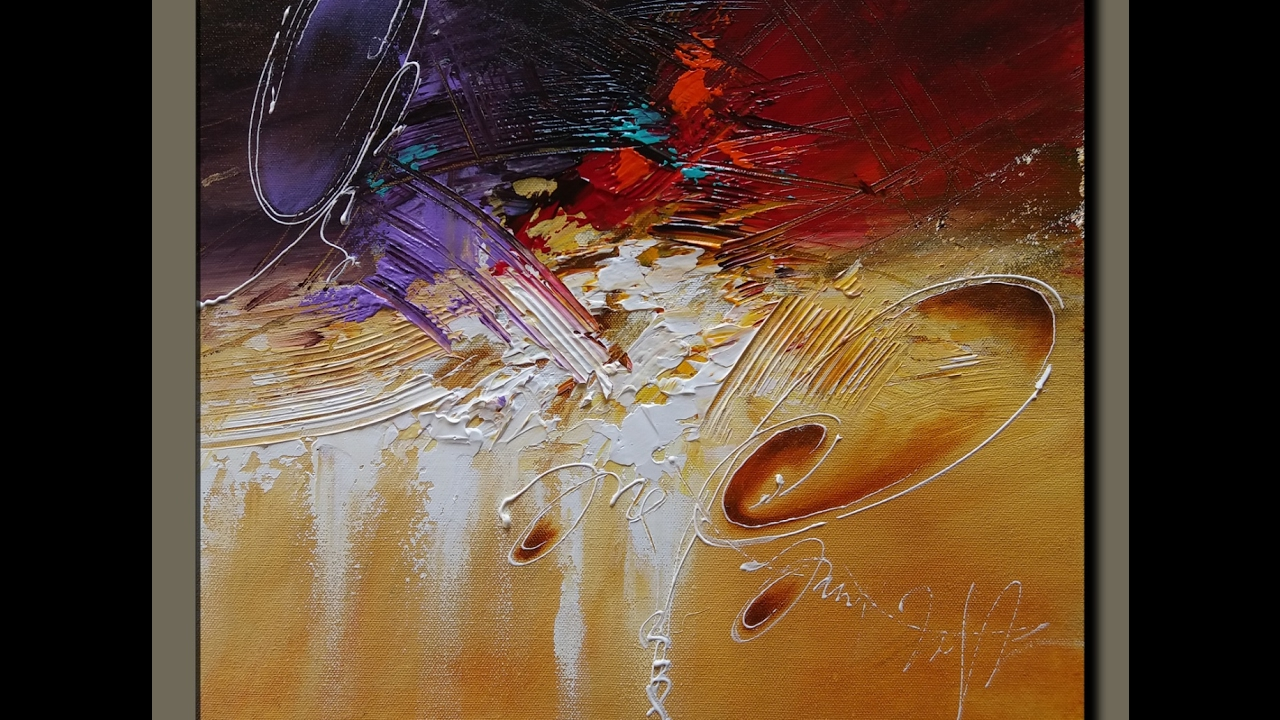 Acrylic Abstract Painting #Art #Demonstration #Techniques ...