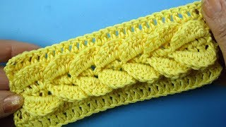 СУМАСШЕДШАЯ КОСА КРЮЧКОМ узор для шапки SPIT Crochet pattern for  hats  101