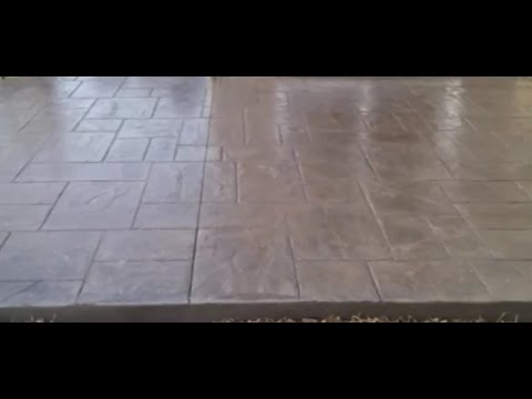 Имитация тротуарной плитки-технология