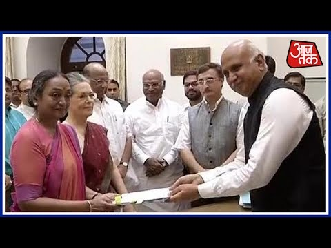 Meira Kumar Files Nomination Papers to Challenge NDA's Ram Nath Kovind