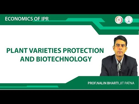 Lec 4 Plant Varieties Protection and Biotechnology