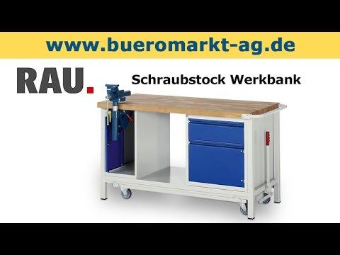 Rau Schraubstock Werkbank - YouTube