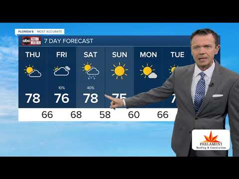 Florida's Most Accurate Forecast with Greg Dee on Thursday, December 12, 2019