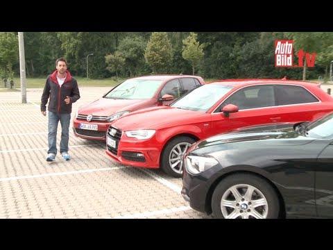 VW Golf, BMW 1er, Audi A3 - Ist der A3 reif für die Krone?