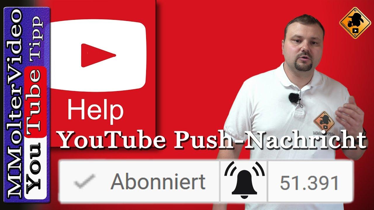 Youtube Benachrichtigung Bei Neuen Videos Auf Abonnierten Kanal