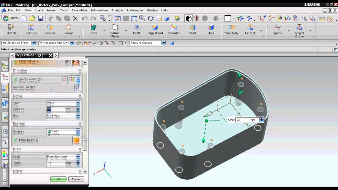 how to create offset extrude in solidworks