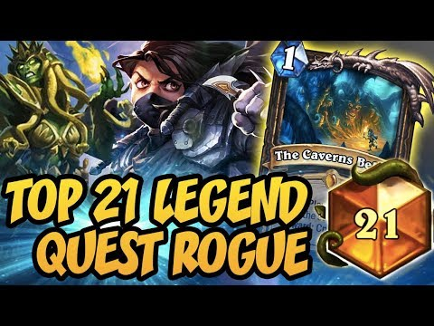 Hearthstone: Top 21 Legend With Quest Rogue