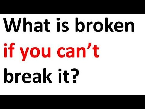 Broken Riddle - Short Riddles With Funny Answers - YouTube