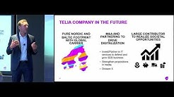 Johan Dennelind, President & CEO, Telia presents at the CEO Investor Forum, September 2017