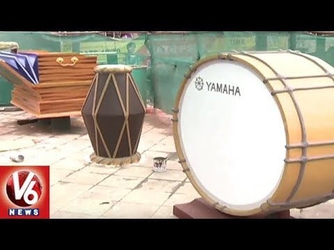 GHMC Decked Up Sangeeth Junction With Musical Instruments | V6 News