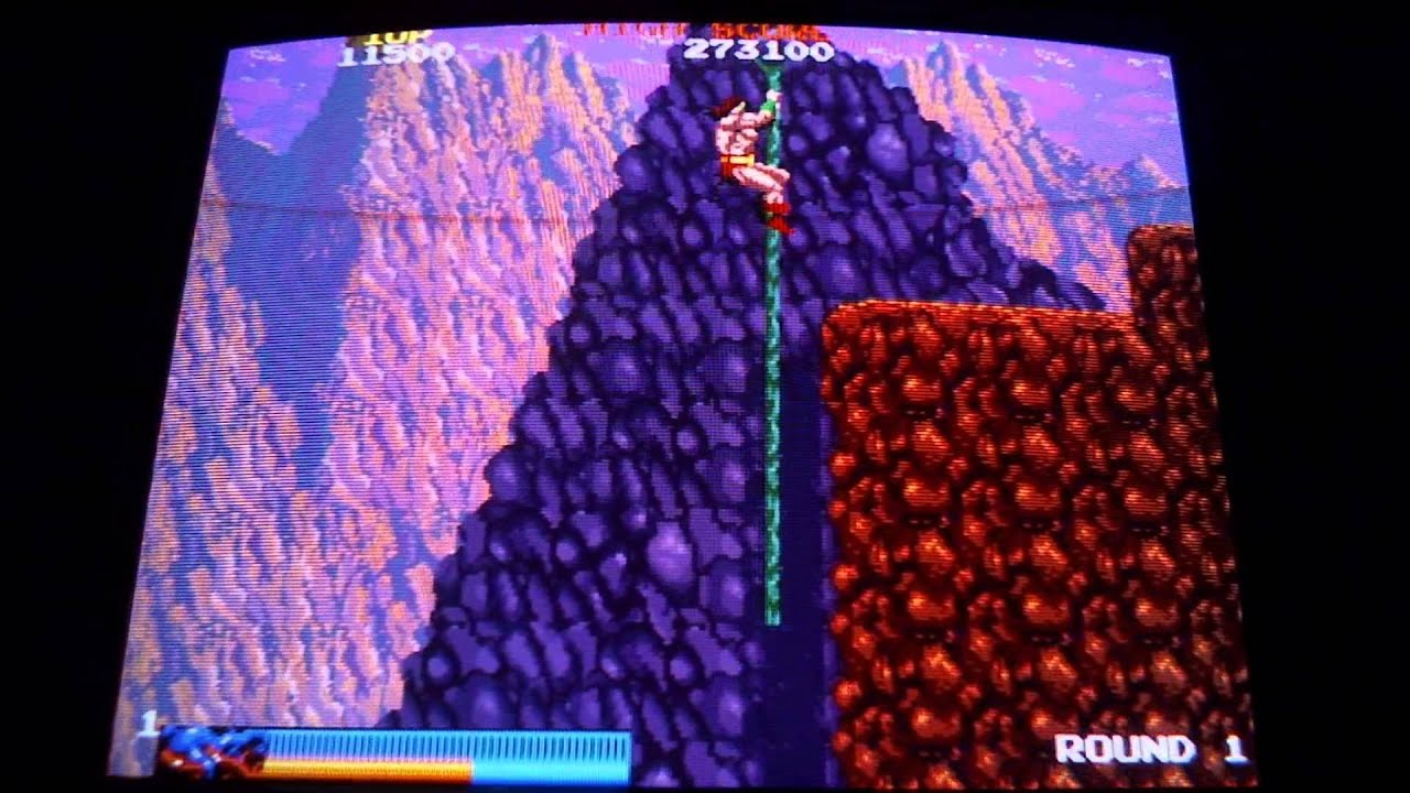 Arcade Classics on CRT tv (mame emulation) : Rastan
