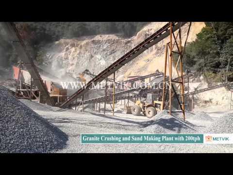 Granite Crushing and Sand Making Plant with 200 tph of Shanghai Metvik® Company