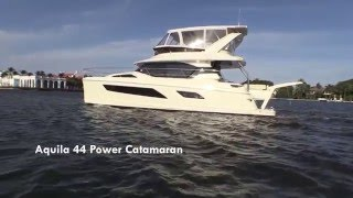 Tour of Interlude, an Aquila 44 Power Catamaran
