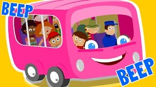 the wheels on the bus go round and round | nursery rhymes | vehicles song | kids songs | baby videos
