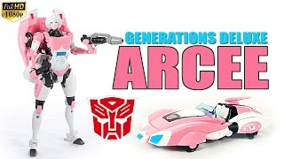 Hasbro Generations IDW Arcee deluxe class Tranasformers robot figure review
