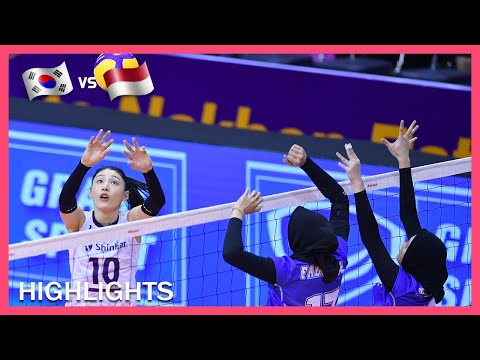 Korea Vs Indonesia Highlights Jan 07 Women S Asian Tokyo Olympic Volleyball Qualification 2020 Youtube