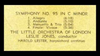 Haydn / Leslie Jones, 1968: Symphony No. 95 in C minor - The Little Orchestra of London