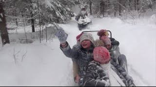 Катание на снегоходах (9.01.2016)(Фонд развития экотуризма