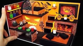 DIY Miniature Realistic Board House  - Halloween House decor ! cardboard~