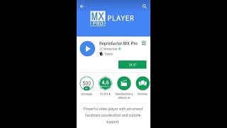 Reproductor MX player Pro black v1.9.24 - 2018 En segundo plano screenshot 4