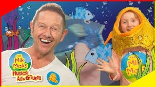 🐠 12345 Once I Caught A Fish Alive 🐠  | Sing-a-long Nursery Rhymes | The Mik Maks