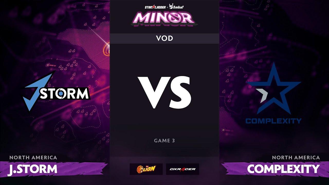 [RU] J.Storm vs compLexity, Game 3, StarLadder ImbaTV Dota 2 Minor S2 NA Qualifiers