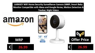 LARKKEY WiFi Home Security Surveillance Camera 1080P, Smart Baby Monitor