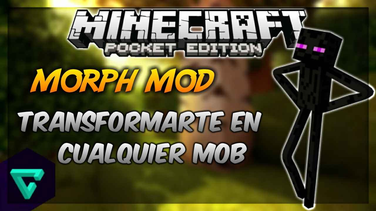 how to get the morph mod on minecraft pe