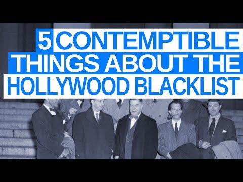 5 Contemptible Things About Hollywood Blacklist