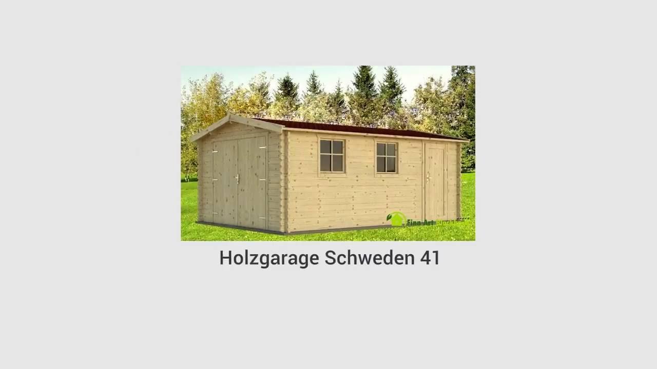 montage holzgarage schweden 41 von gartenhaus youtube. Black Bedroom Furniture Sets. Home Design Ideas