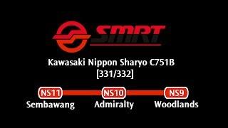 SMRT C751B [331/332]: Sembawang → Woodlands (» Woodlands)