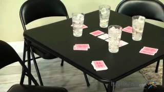 Meco Sudden Comfort 5 Piece Card Table Set - Black - Product Review Video