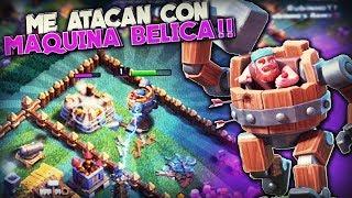 ME ATACAN con MAQUINA BELICA!! | Clash of Clans | Rubinho vlc
