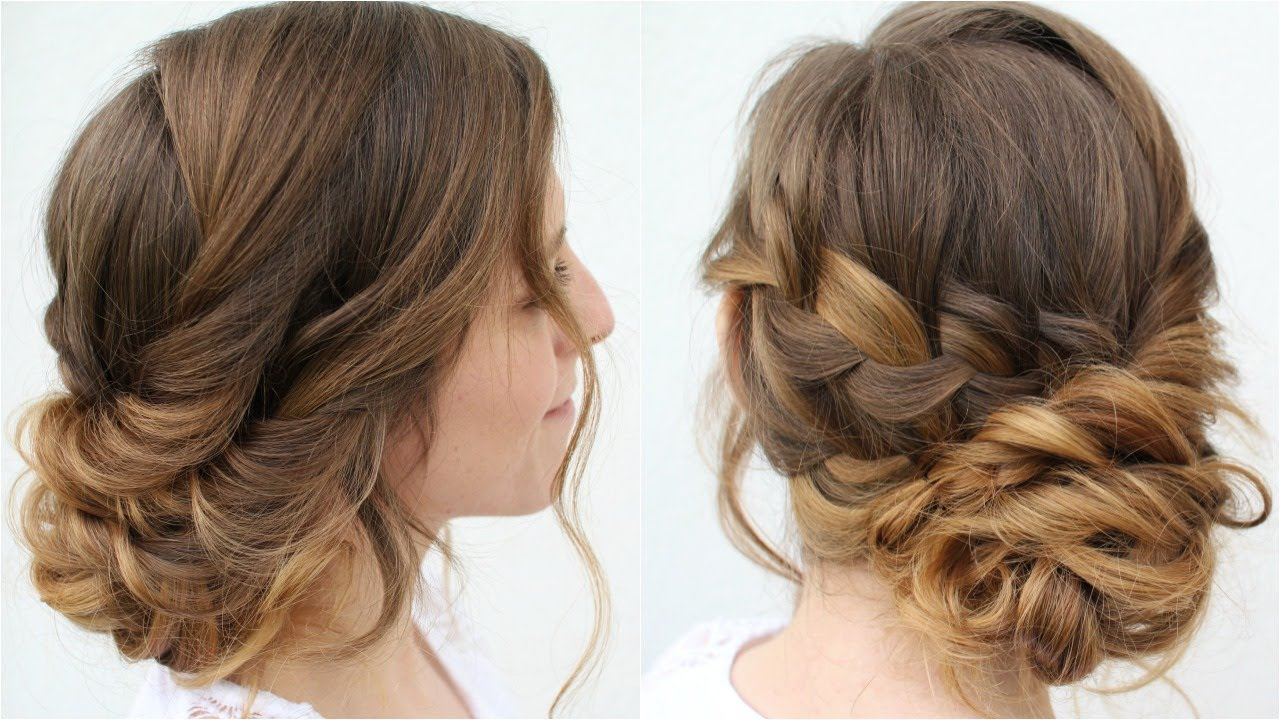 romantic updo hairstyle bridal