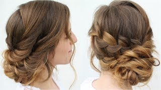 Easy Romantic Updo Hairstyles | Twisted Updo | Braidsandstyles12