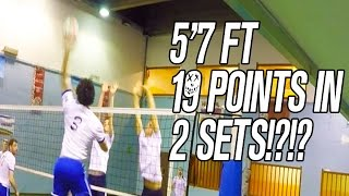 Shortest Volleyball Spiker that Smash 19 Points in 2 Sets? 5'7ft
