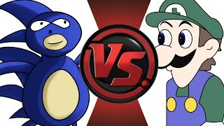 SANIC vs WEEGEE! Cartoon Fight Club Episode 16!!