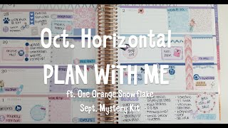 Horizontal Plan With Me ft. One Orange Snowflake Mystery Box! l saraplans
