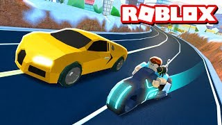 VOLT BIKE vs BUGATTI VEYRON!! | Roblox Jailbreak Train Update