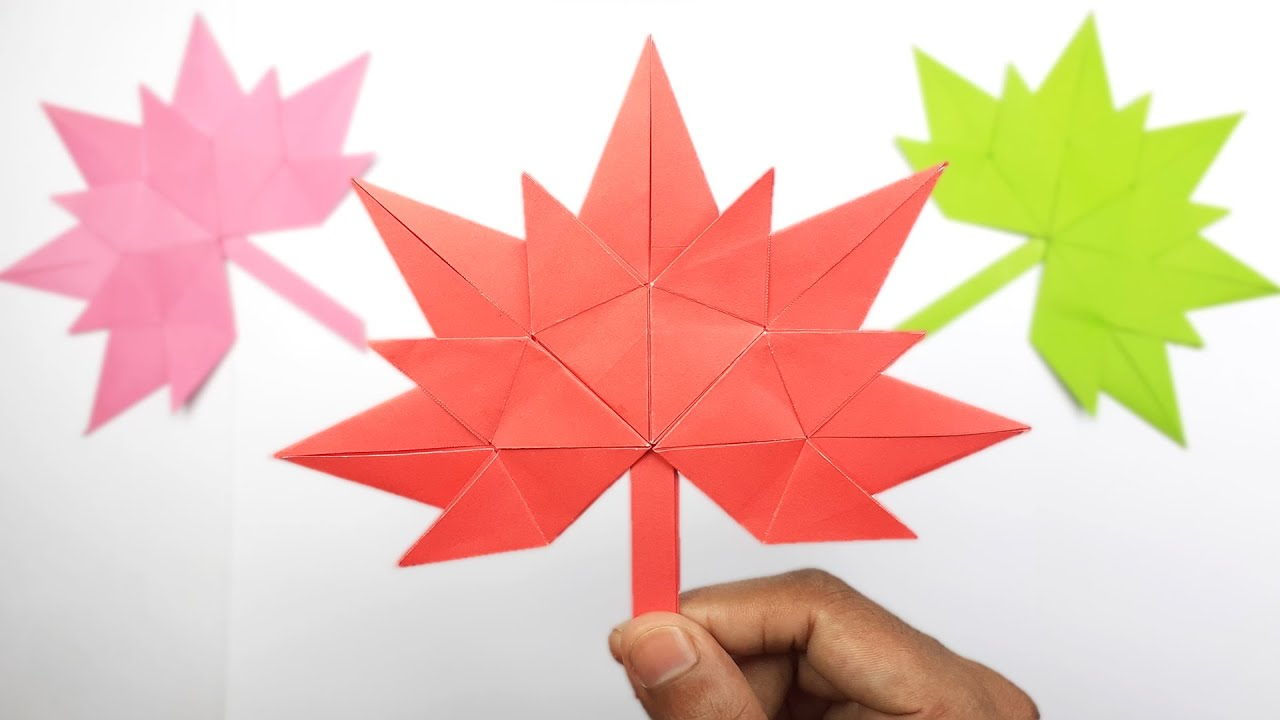 How to Make Maple Leaves Step by Step | Origami Maple Leaf Tutorial | Easy Paper Crafts