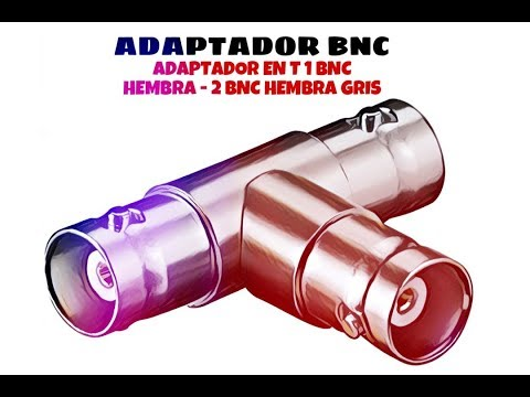 Video de Adaptador en T de 1 BNC hembra - 2 BNC hembra  Gris