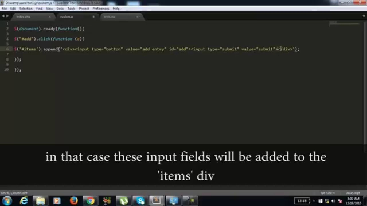 Dynamic form fields (adding and removing form fields dynamically)