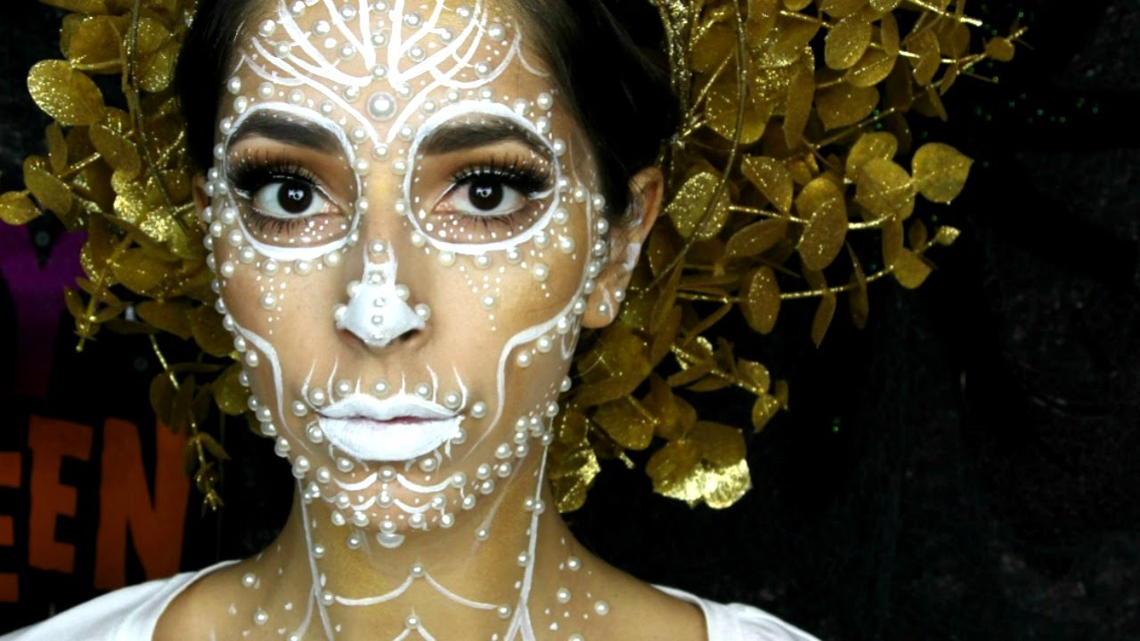 pearl day of the dead makeup tutorial youtube