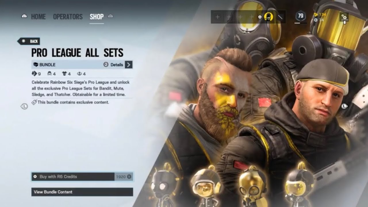 Y5s2 Pro League Bundles Rainbow Six Siege Youtube