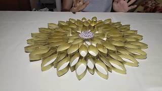 Flower Decoration Using Toilet Paper Rolls (DIY)