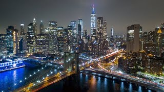 NYC 4K Night Flight - Spectacular Views of the Freedom Tower!